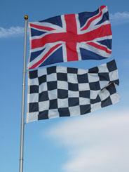 6M TELESCOPIC ALUMINIUM FLAG POLE.(2 FLAG VERSION)